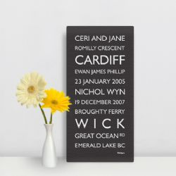 Personalised Destination Canvas (Regular)